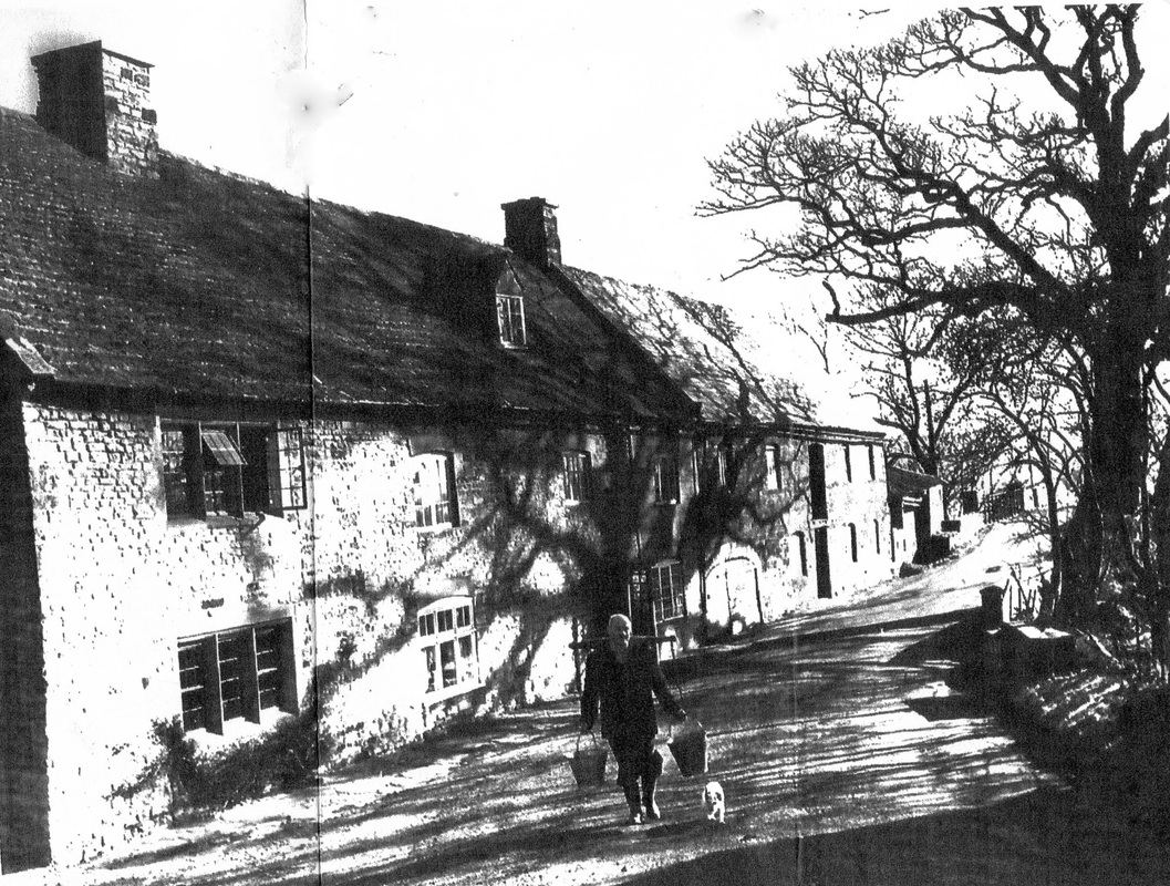Black and white Watermill front